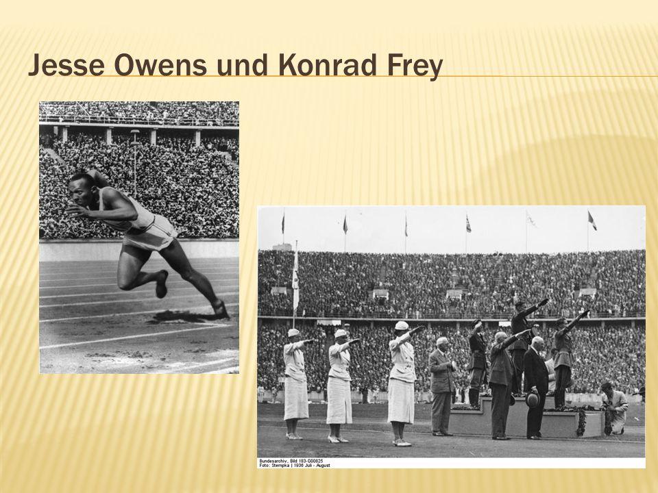 Jesse Owens und Konrad Frey
