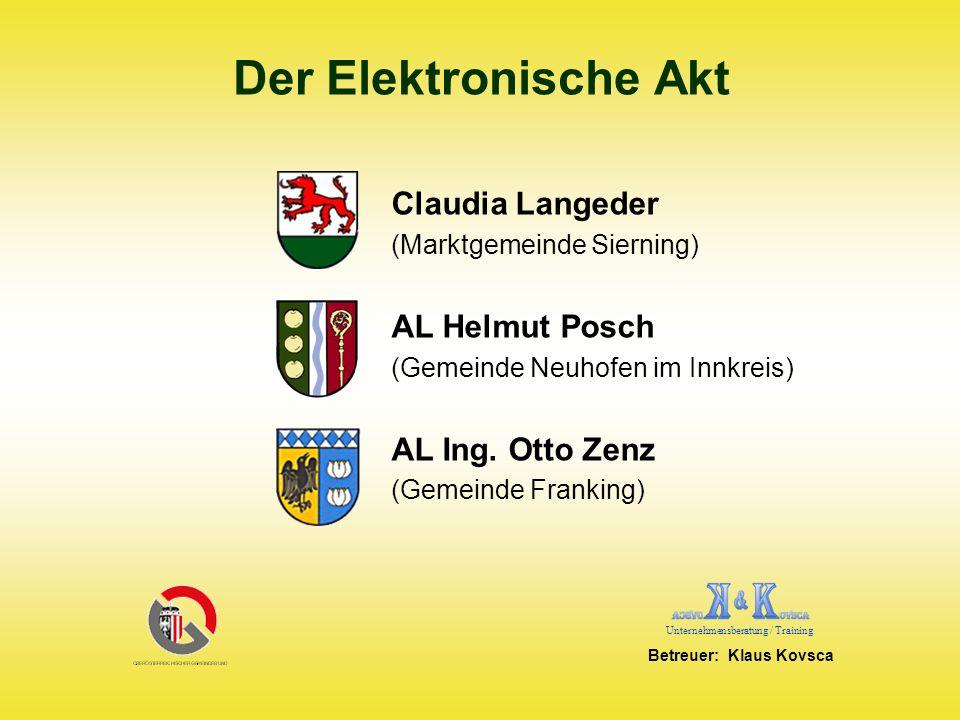 Der Elektronische Akt Claudia Langeder AL Helmut Posch