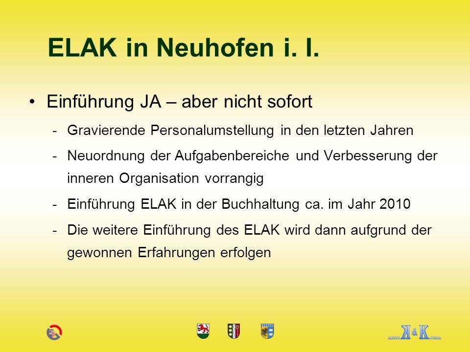 ELAK in Neuhofen i. I. Einführung JA – aber nicht sofort