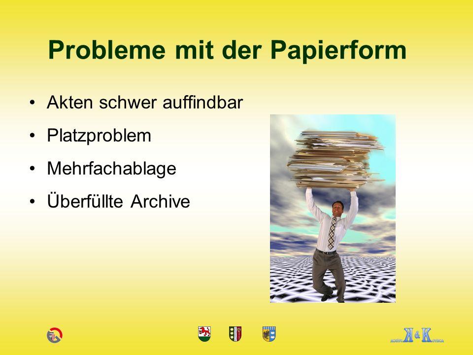 Probleme mit der Papierform
