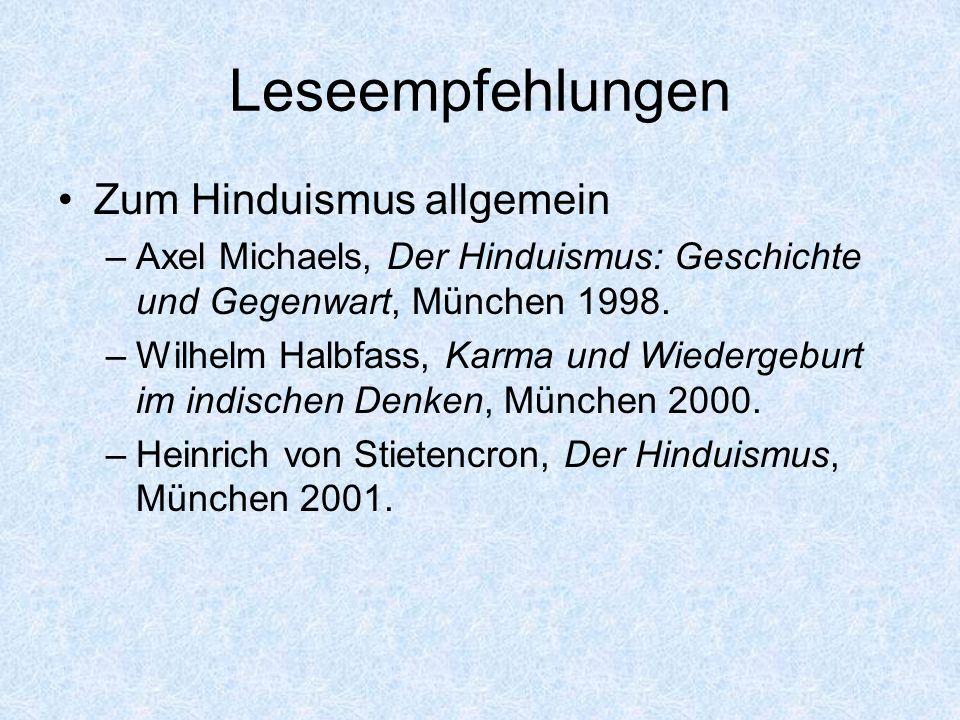 Leseempfehlungen Zum Hinduismus allgemein