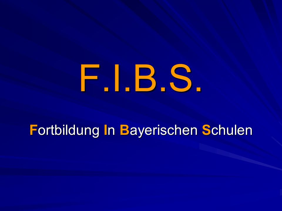 Fortbildung In Bayerischen Schulen
