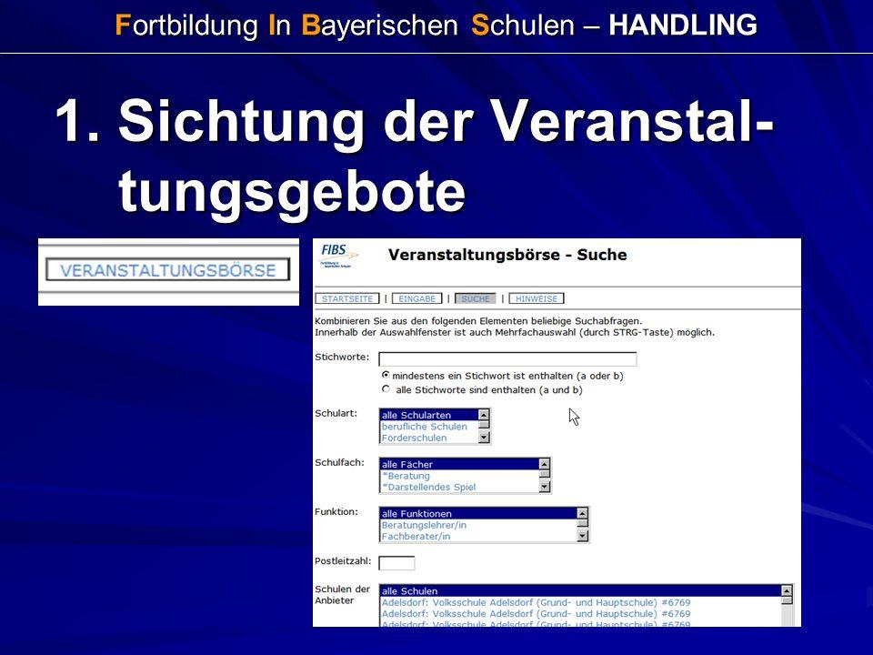 Fortbildung In Bayerischen Schulen – HANDLING