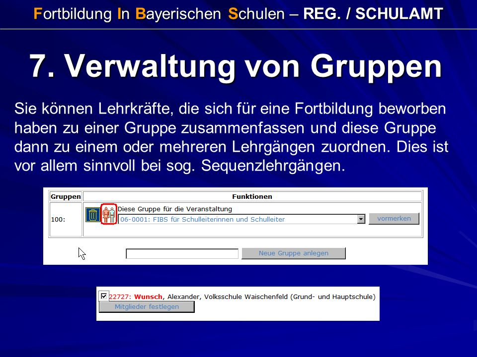 Fortbildung In Bayerischen Schulen – REG. / SCHULAMT