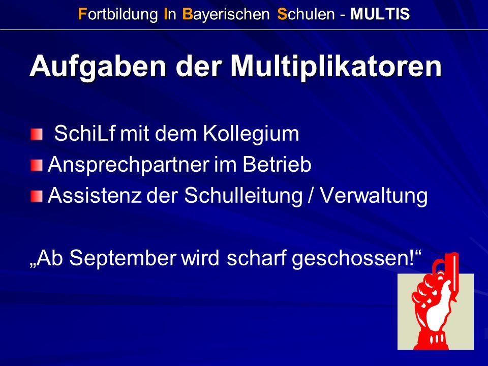 Fortbildung In Bayerischen Schulen - MULTIS