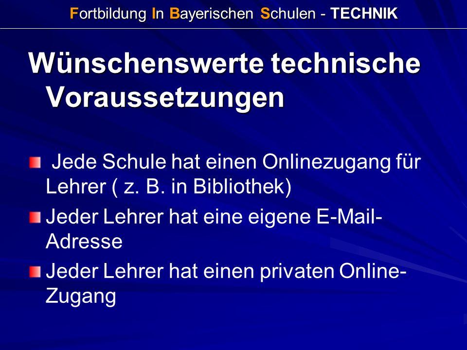Fortbildung In Bayerischen Schulen - TECHNIK