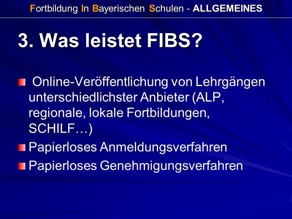 Fortbildung In Bayerischen Schulen - ALLGEMEINES