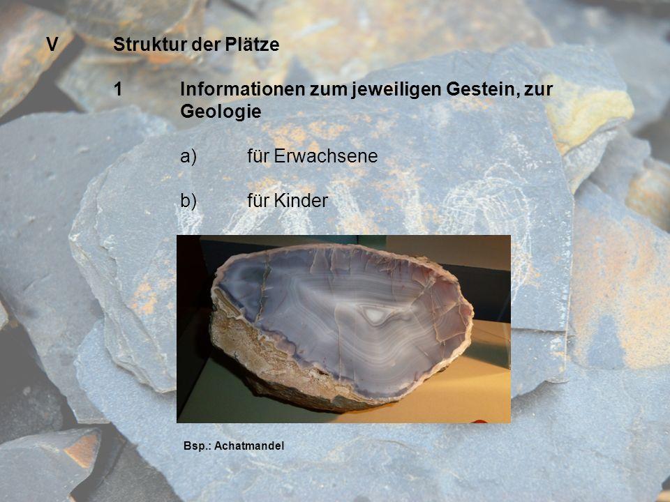 1 Informationen zum jeweiligen Gestein, zur Geologie