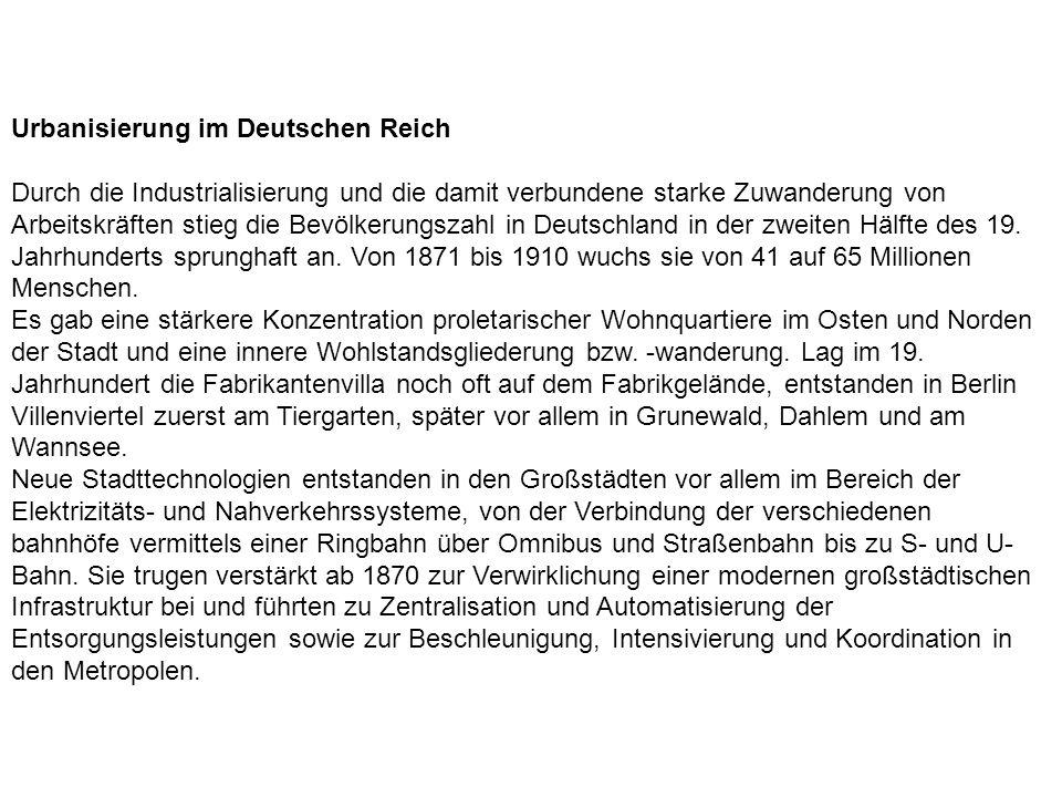 Urbanisierung im Deutschen Reich