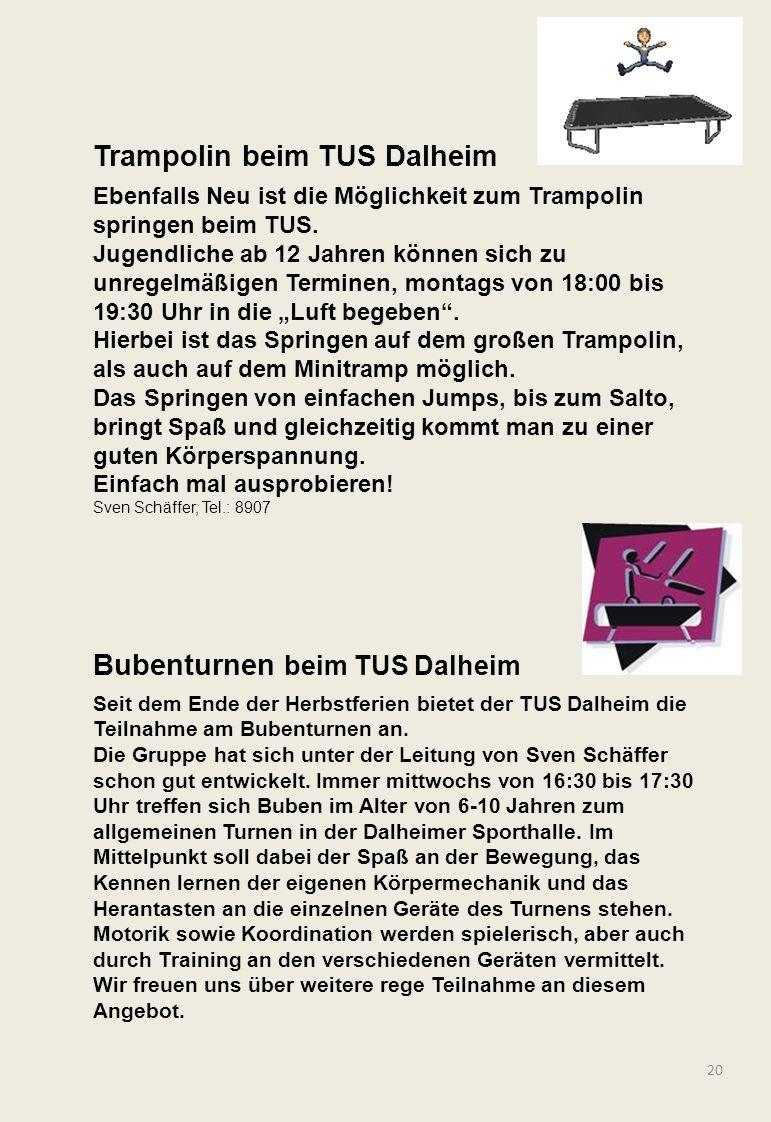 Trampolin beim TUS Dalheim