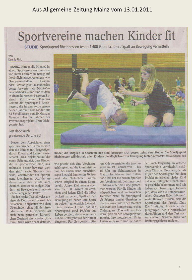 Aus Allgemeine Zeitung Mainz vom 13.01.2011