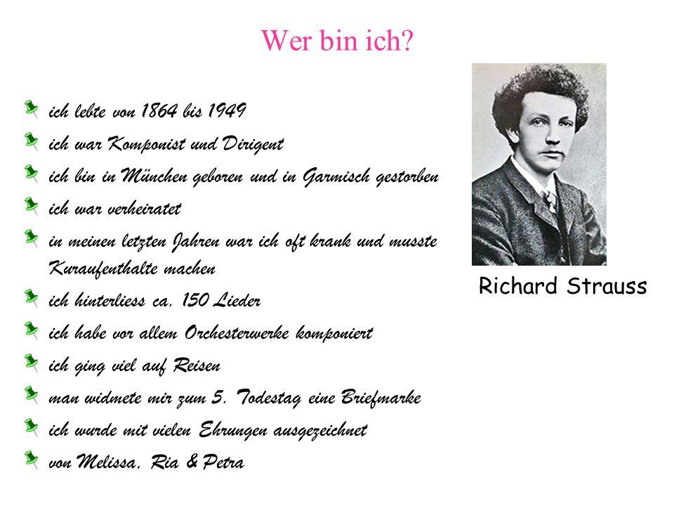 Wer bin ich ich lebte von 1864 bis 1949
