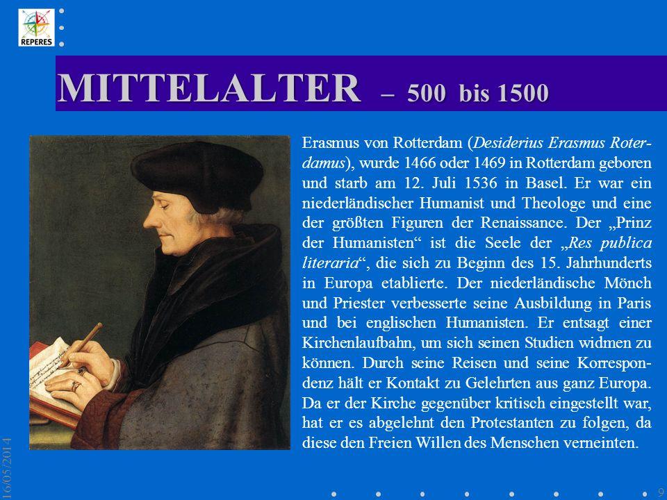 MITTELALTER – 500 bis 1500