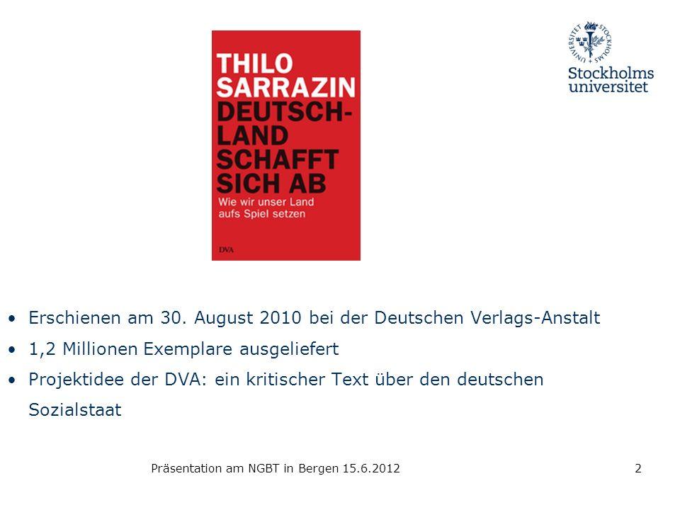 Erschienen am 30. August 2010 bei der Deutschen Verlags-Anstalt