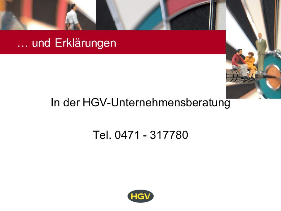 In der HGV-Unternehmensberatung