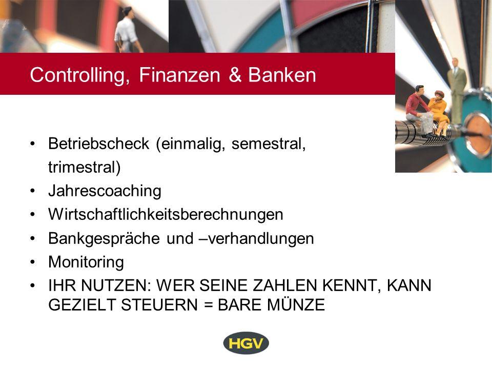 Controlling, Finanzen & Banken