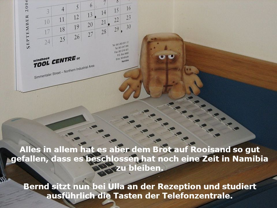 Bernd sitzt nun bei Ulla an der Rezeption und studiert