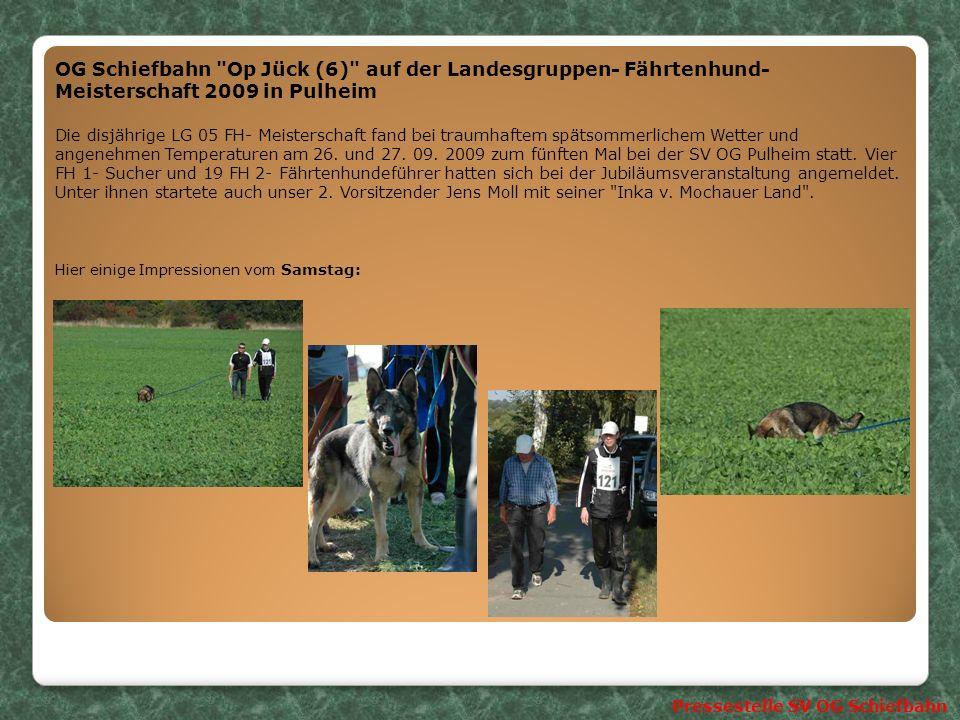 OG Schiefbahn Op Jück (6) auf der Landesgruppen- Fährtenhund- Meisterschaft 2009 in Pulheim