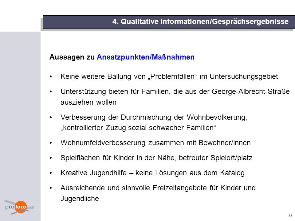 4. Qualitative Informationen/Gesprächsergebnisse