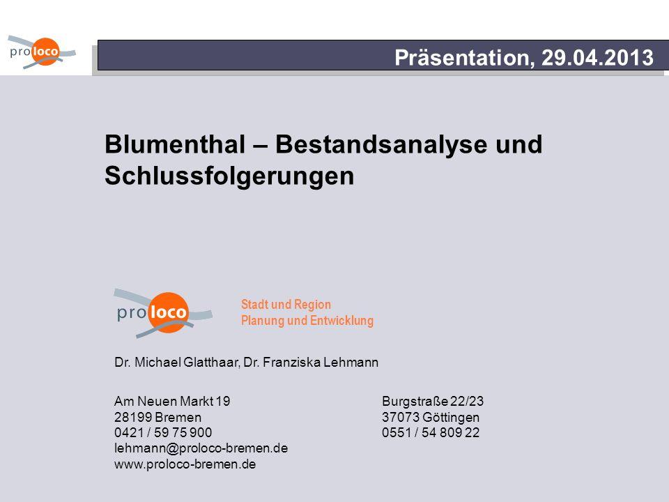 Blumenthal – Bestandsanalyse und Schlussfolgerungen