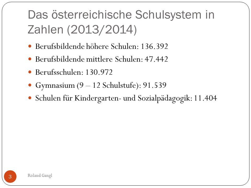 Das österreichische Schulsystem in Zahlen (2013/2014)