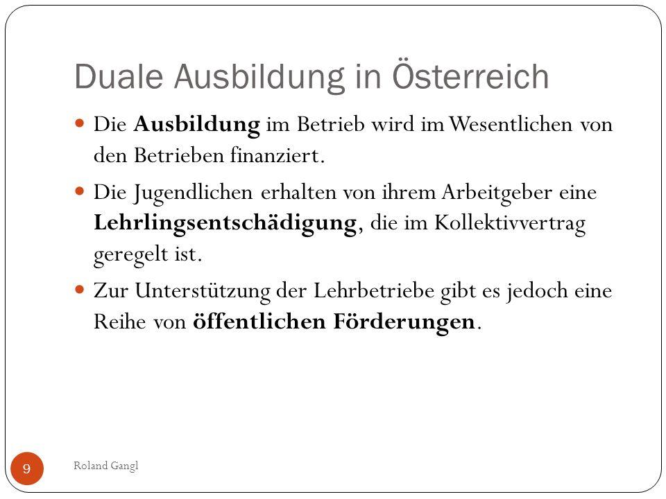Duale Ausbildung in Österreich