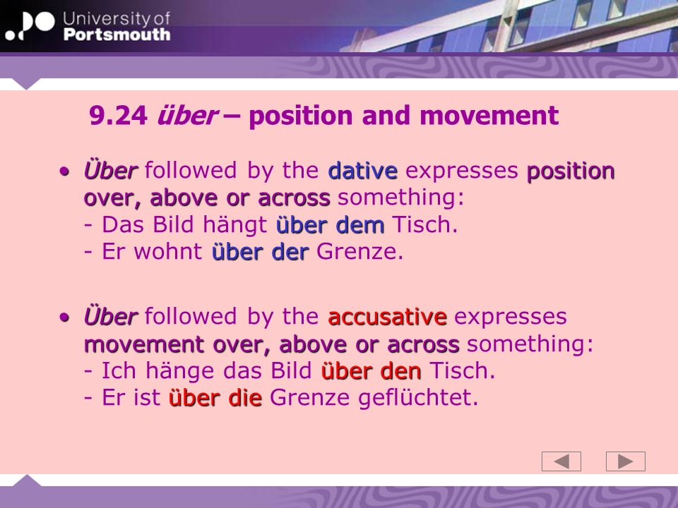 9.24 über – position and movement