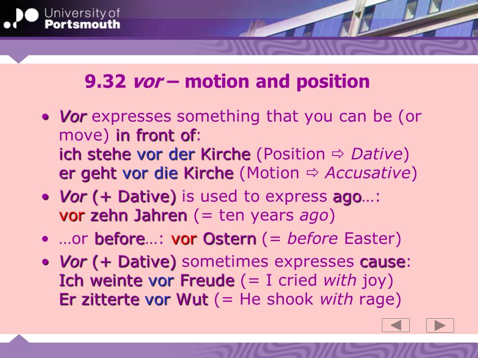 9.32 vor – motion and position