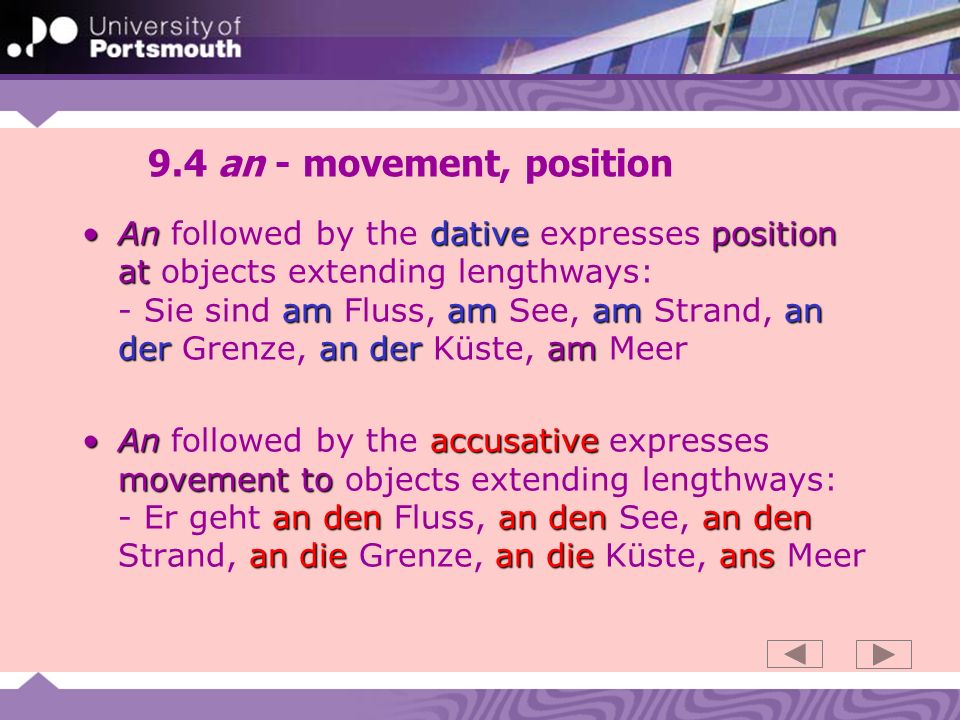 9.4 an - movement, position