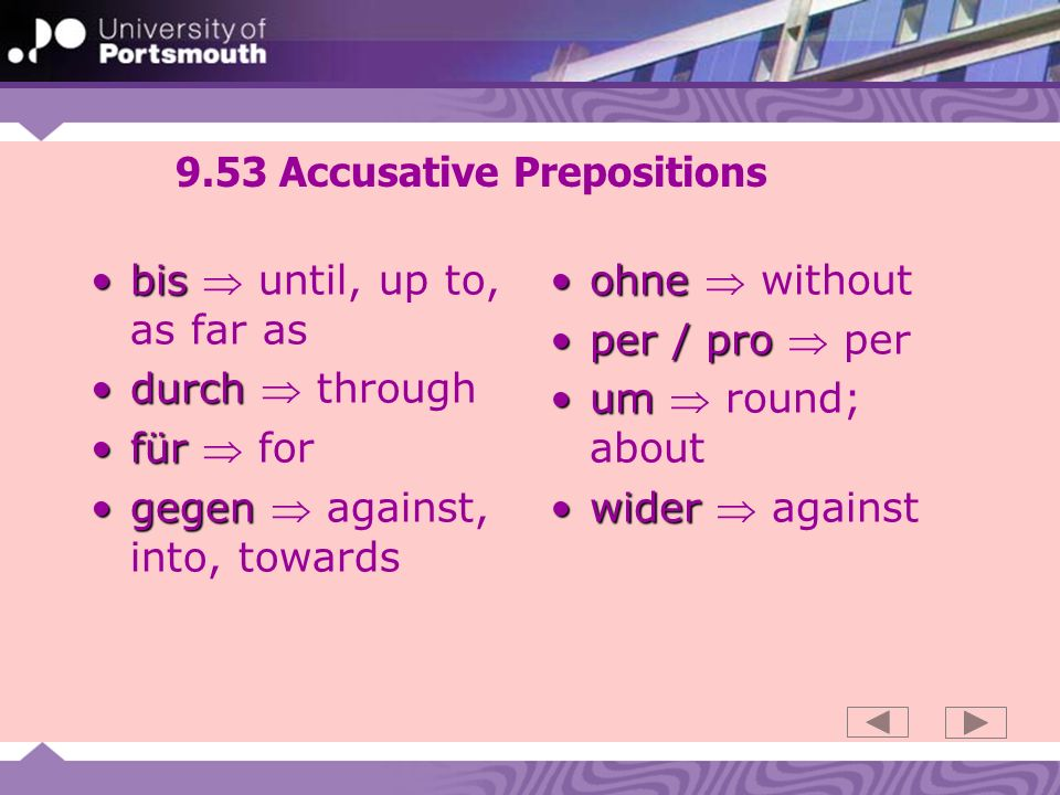 9.53 Accusative Prepositions