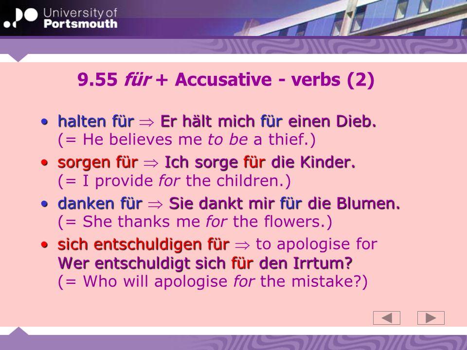 9.55 für + Accusative - verbs (2)