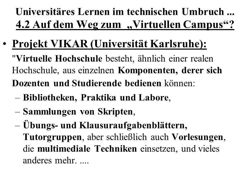 Projekt VIKAR (Universität Karlsruhe):