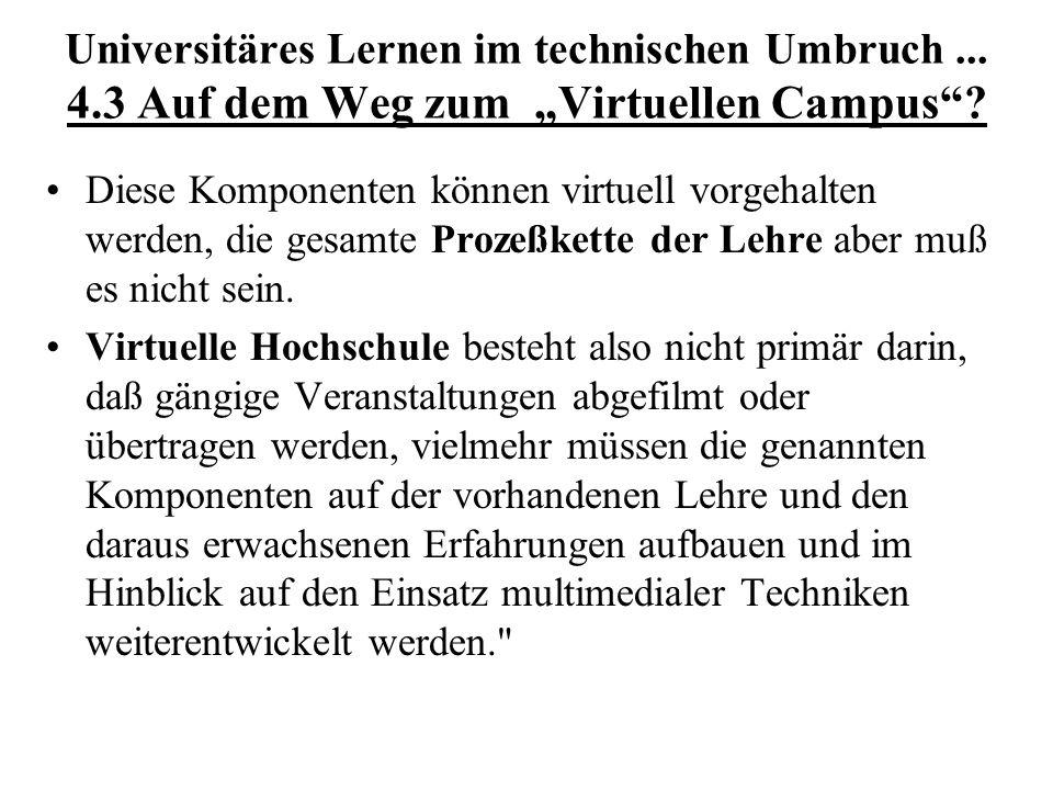 Universitäres Lernen im technischen Umbruch. 4