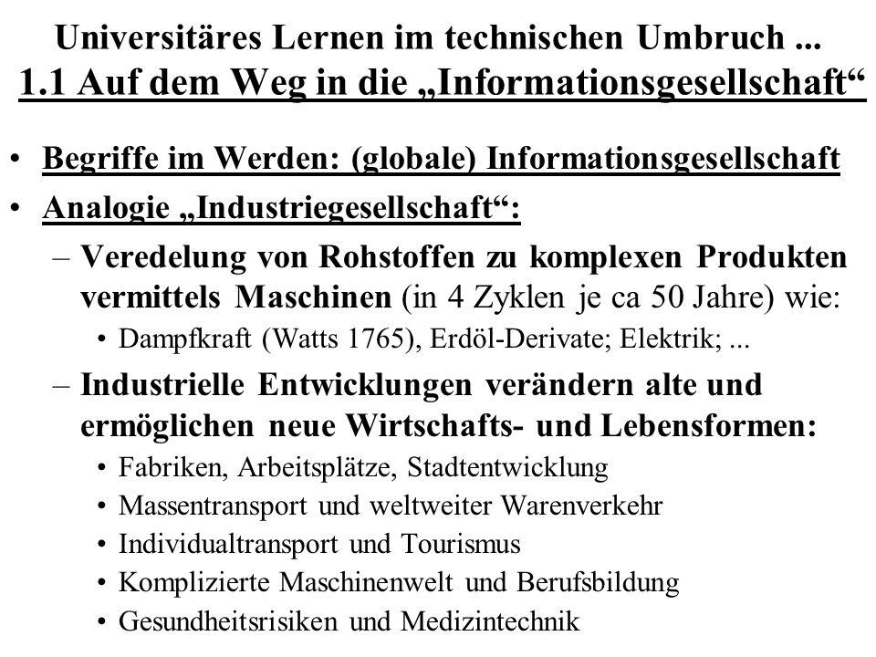 Universitäres Lernen im technischen Umbruch. 1