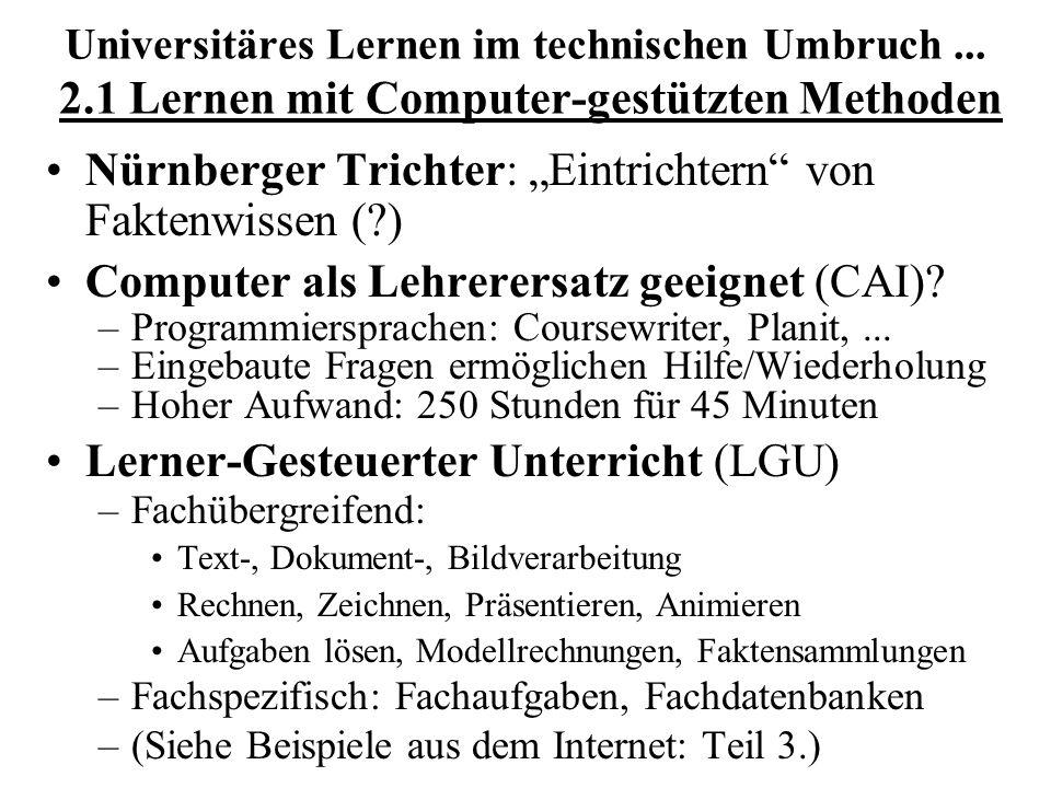 """Nürnberger Trichter: """"Eintrichtern von Faktenwissen ( )"""