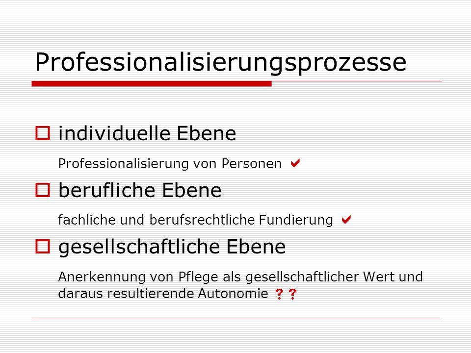 Professionalisierungsprozesse