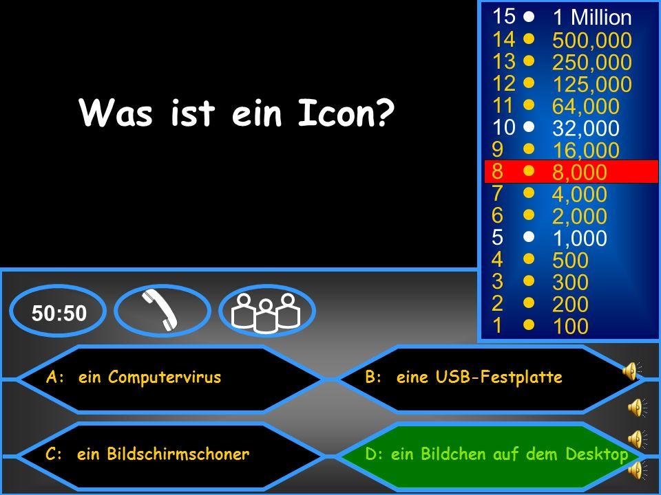 Was ist ein Icon 15 1 Million 14 500,000 13 250,000 12 125,000 11