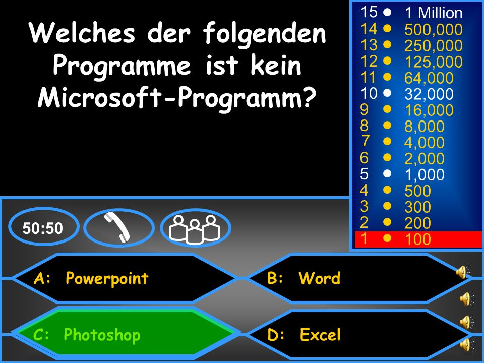 Welches der folgenden Programme ist kein Microsoft-Programm