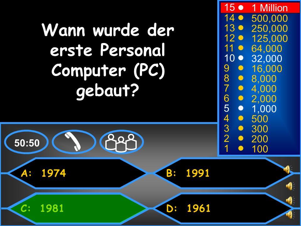 Wann wurde der erste Personal Computer (PC) gebaut