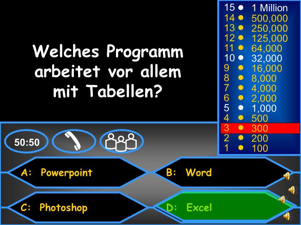 Welches Programm arbeitet vor allem mit Tabellen