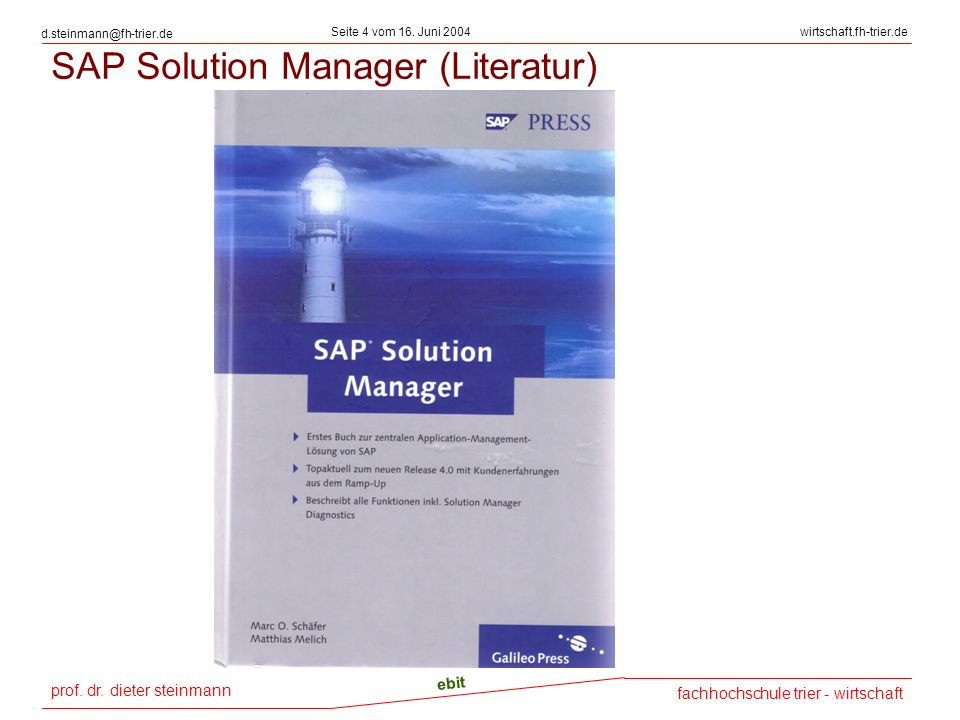 SAP Solution Manager (Literatur)