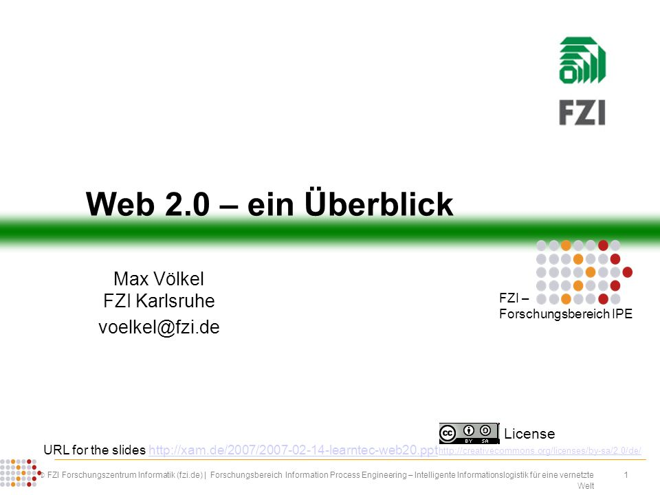 Max Völkel FZI Karlsruhe voelkel@fzi.de