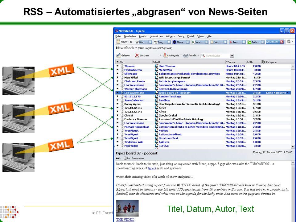 """RSS – Automatisiertes """"abgrasen von News-Seiten"""