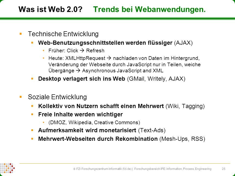 Was ist Web 2.0 Trends bei Webanwendungen.