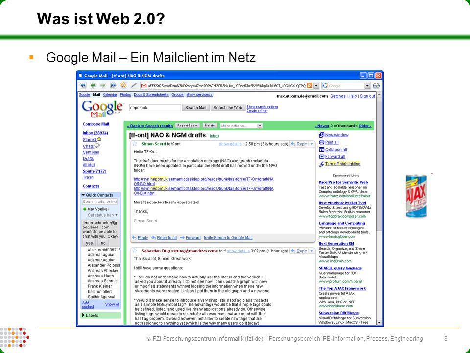 Was ist Web 2.0 Google Mail – Ein Mailclient im Netz