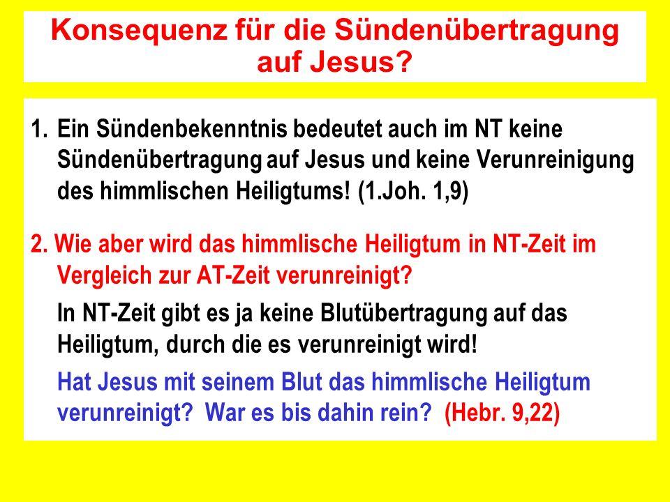 Konsequenz für die Sündenübertragung auf Jesus