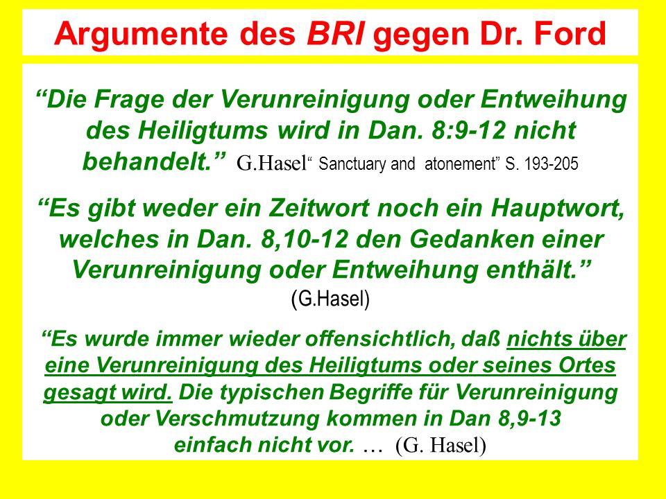 Argumente des BRI gegen Dr. Ford