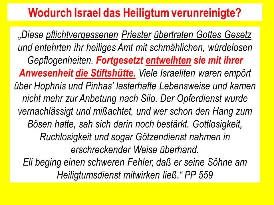 Wodurch Israel das Heiligtum verunreinigte