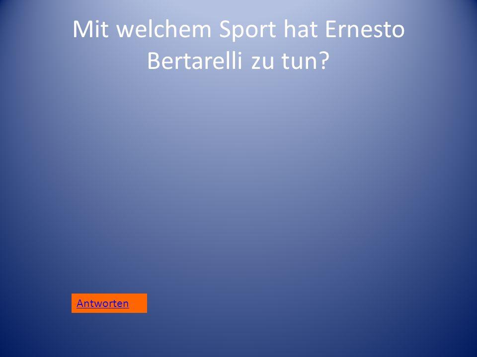 Mit welchem Sport hat Ernesto Bertarelli zu tun