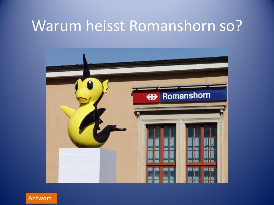 Warum heisst Romanshorn so